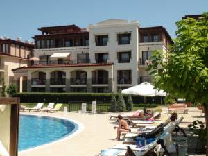Paradise Dune - Nicely furnished holiday apartment - view to the big swimming pool and the mountains
