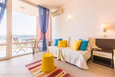 Carina Apart Hotel - Sunny Beach - Furnished studio apartment - on the Beach - Fantastic seaview