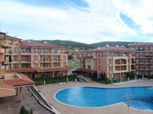 Panorama Dreams - One bedroom holiday apartment - view to the swimmimg pool